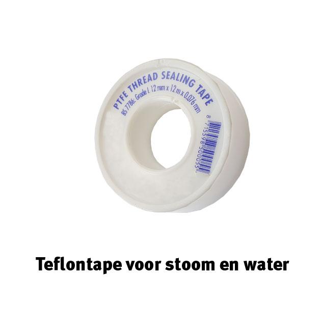 Telfontape voor stoom en water