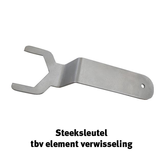 Steeksleutel tbv element verwisseling