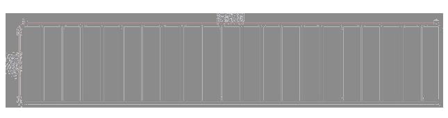 Saunabank module espen 40 x 210 cm