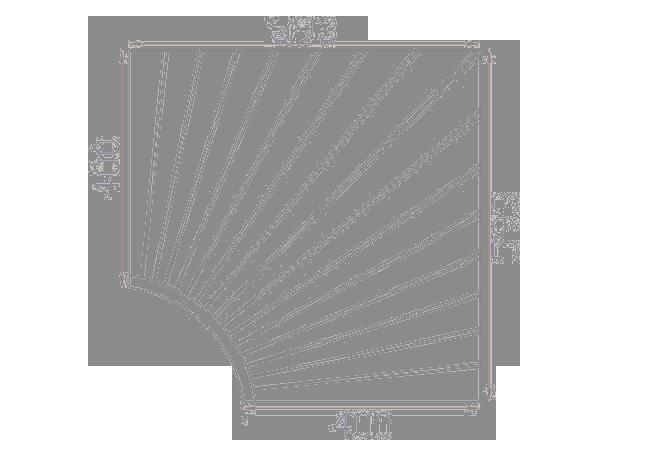 Saunabank hoekmodule espen 40 x 40 cm
