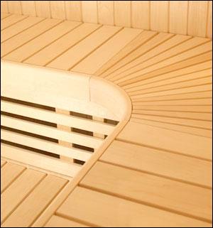 Saunabank frontafdichting espen 27,5 x 240 cm
