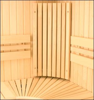 Saunabank hoek-rugleuning espen 40 x 85 cm
