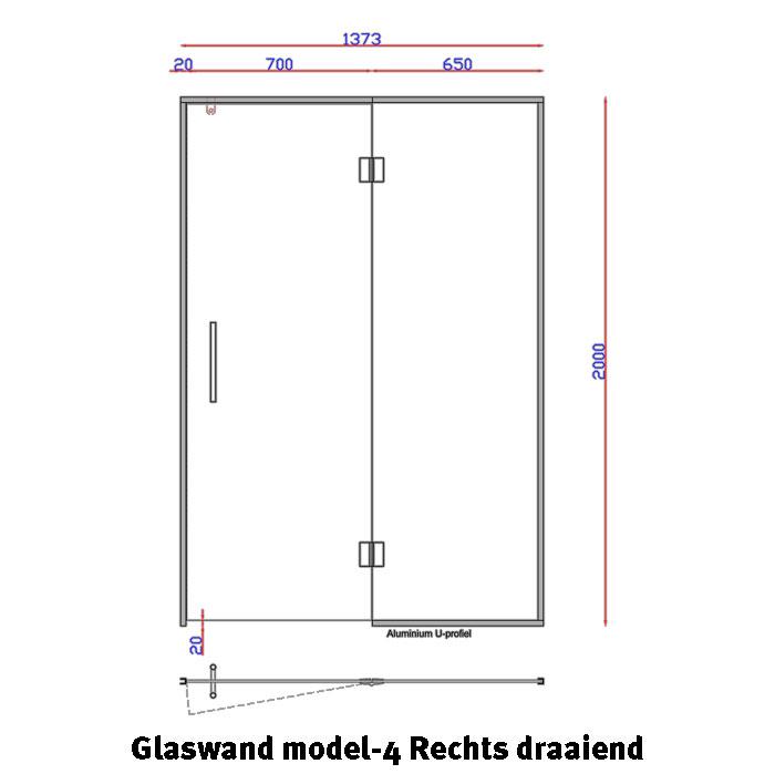 Glaswand Model 4