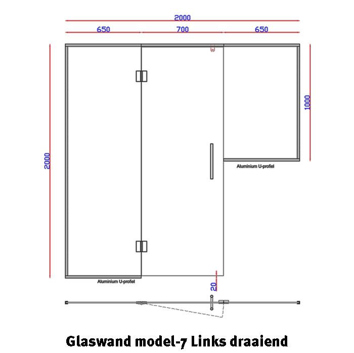 Glaswand Model 7