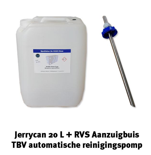 Jerrycan 20 L + rvs aanzuigbuis