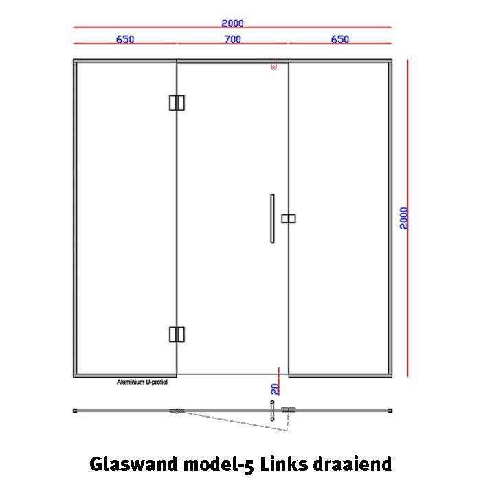 Glaswand model 5