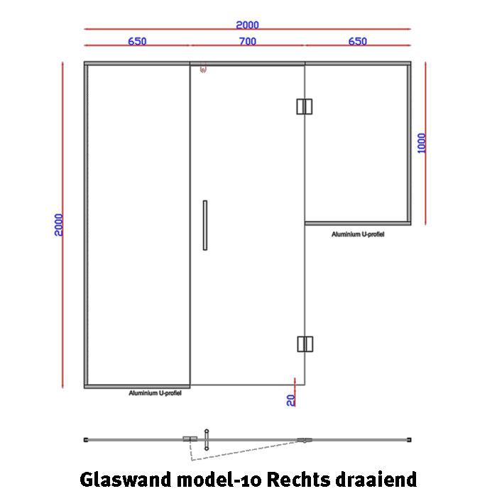 Glaswand model 10
