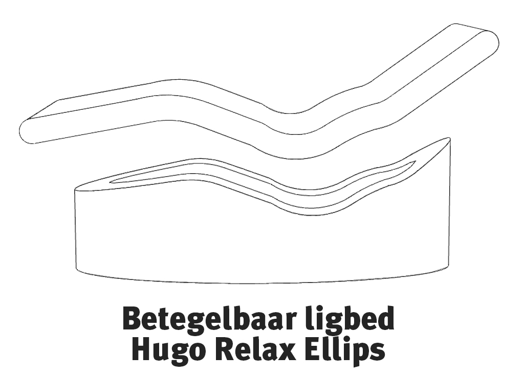 Exploded view Betgelbaar ligbed Hugo Relax Ellips