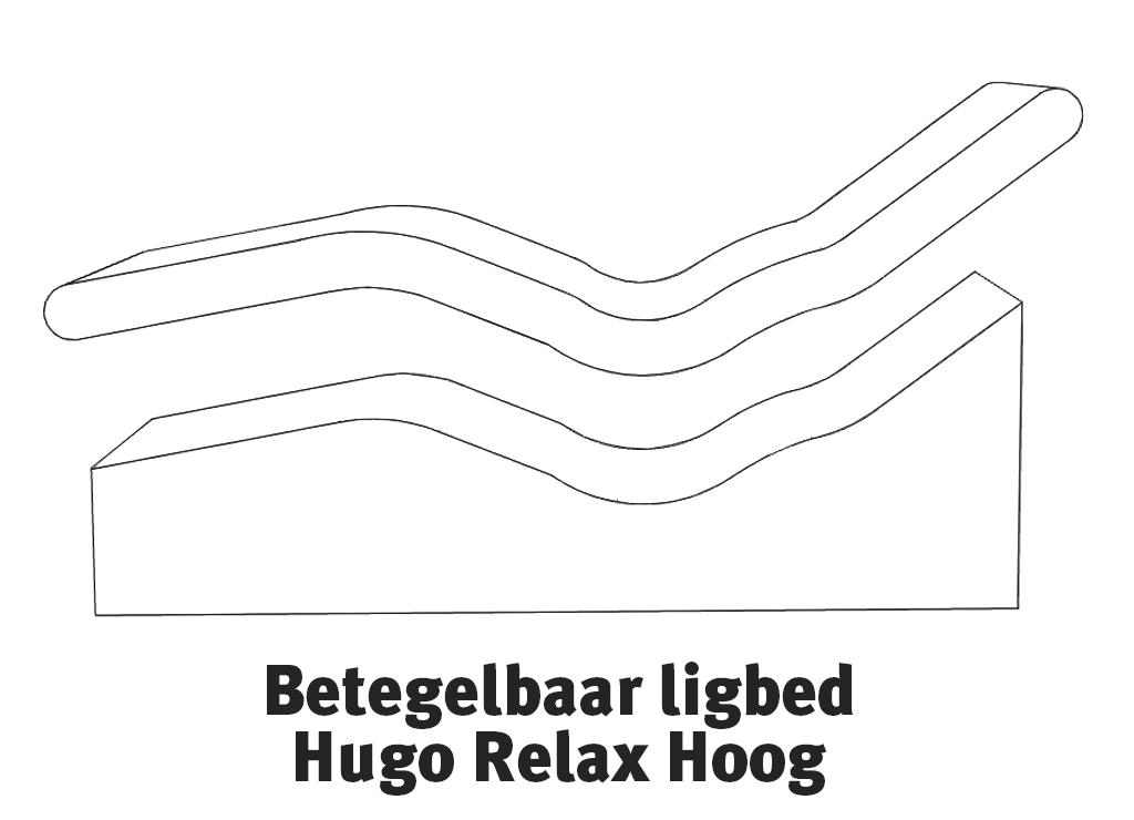 Exploded view Betegelbaar ligbed Hugo Relax Hoog