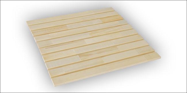 Sauna oprolbare vloermat espen 95 x 94 cm