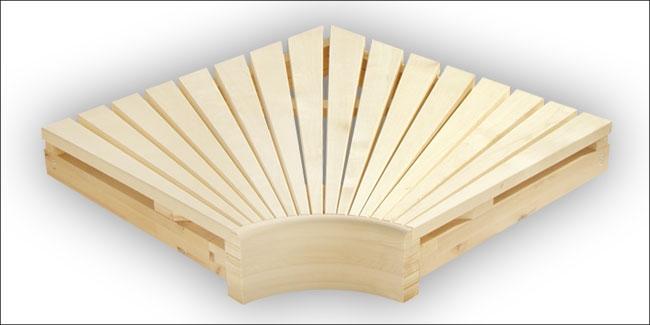 Saunabank hoekmodule espen 60 x 60 cm