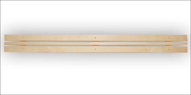 Sauna rugleuning module espen 22,5 x 240 cm