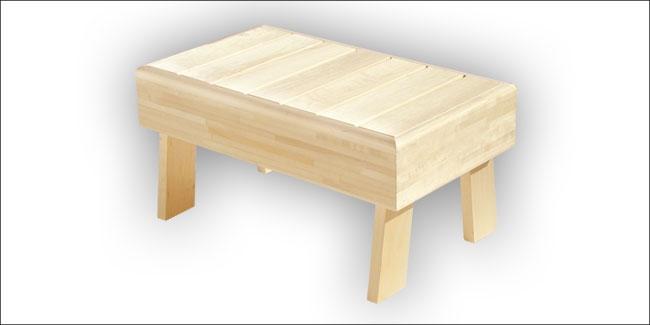 Sauna opstapbank espen 40 x 70 cm