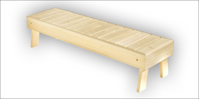 Sauna opstapbank espen 40 x 150 cm