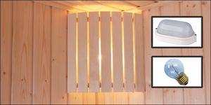 Espen/Fichte lampenscherm hoekbevestiging rond model complete set