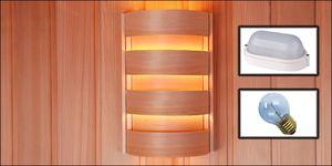 Hemlock lampenscherm rond vlakke wand complete set