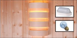 Espen/Fichte lampenscherm rond op vlakke wand