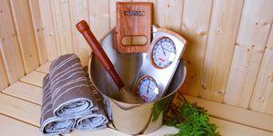 Harvia RVS sauna accessoire set