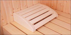 Sauna hoofdsteun espen rond model