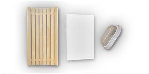 Saunabank hoekverlichting-rugleuning espen 40 x 85 cm